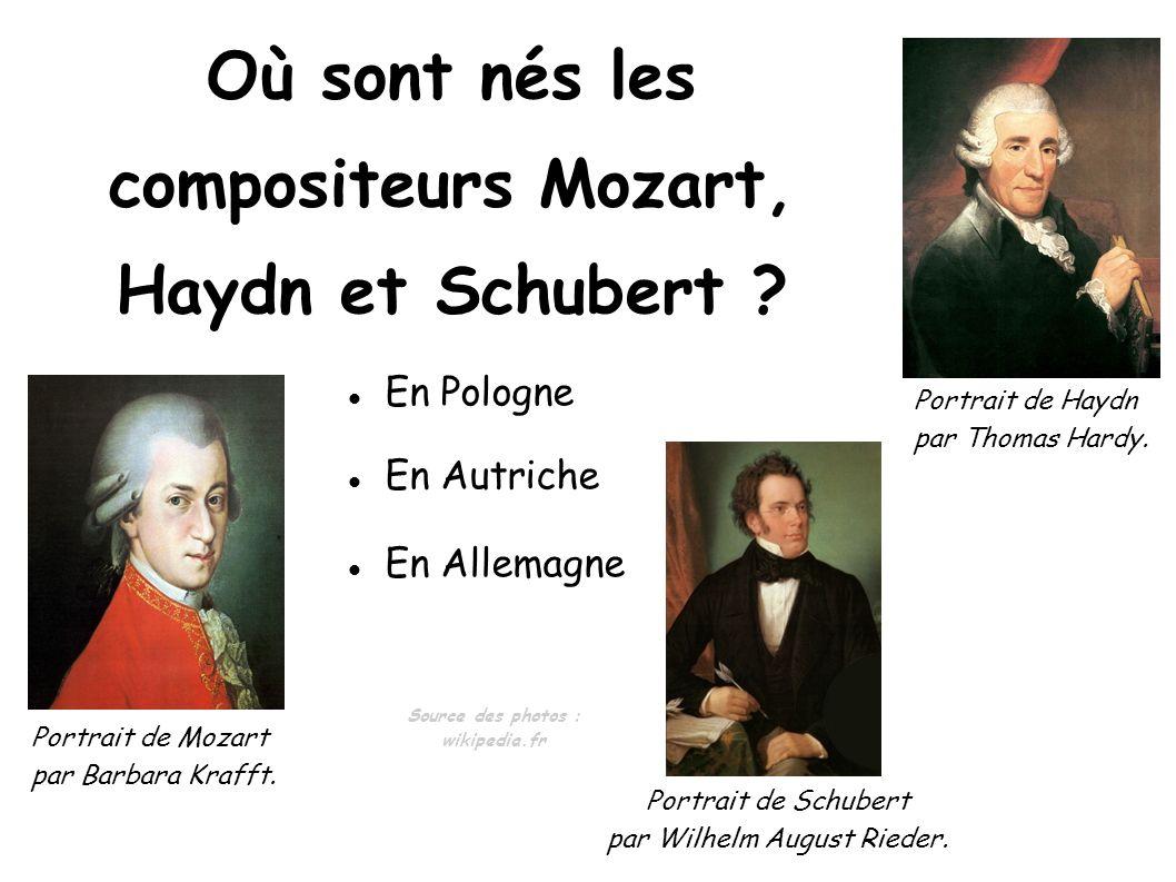 Où sont nés les compositeurs Mozart, Haydn et Schubert
