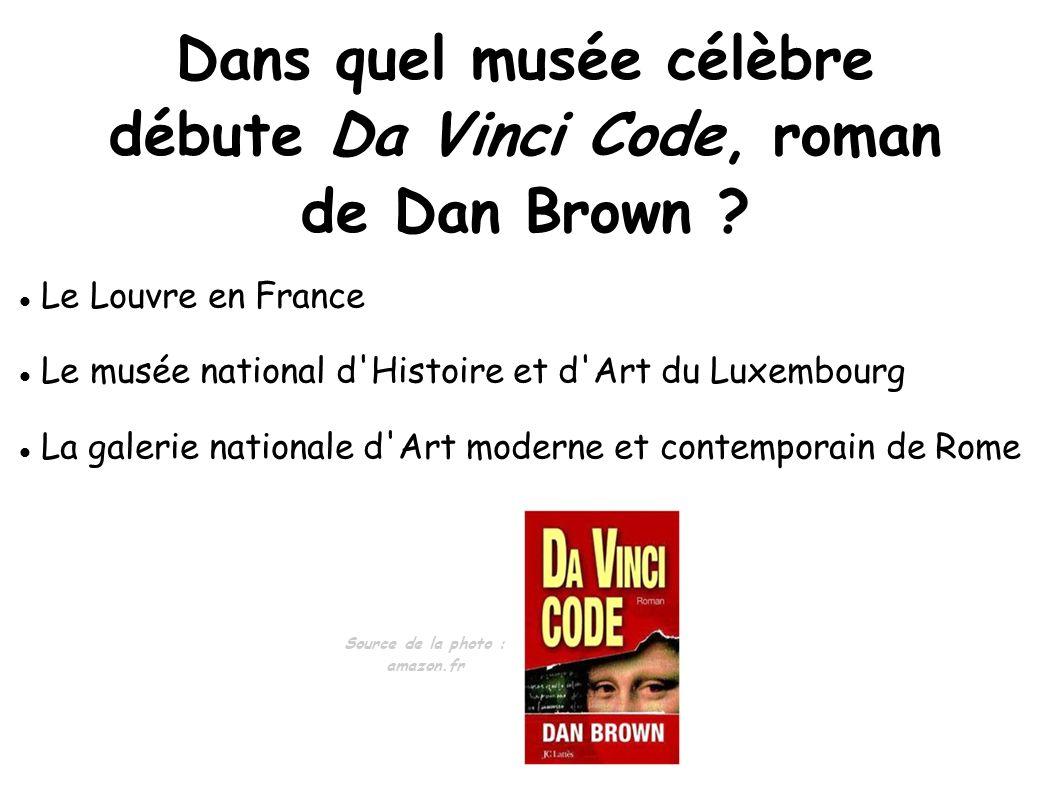 Dans quel musée célèbre débute Da Vinci Code, roman de Dan Brown