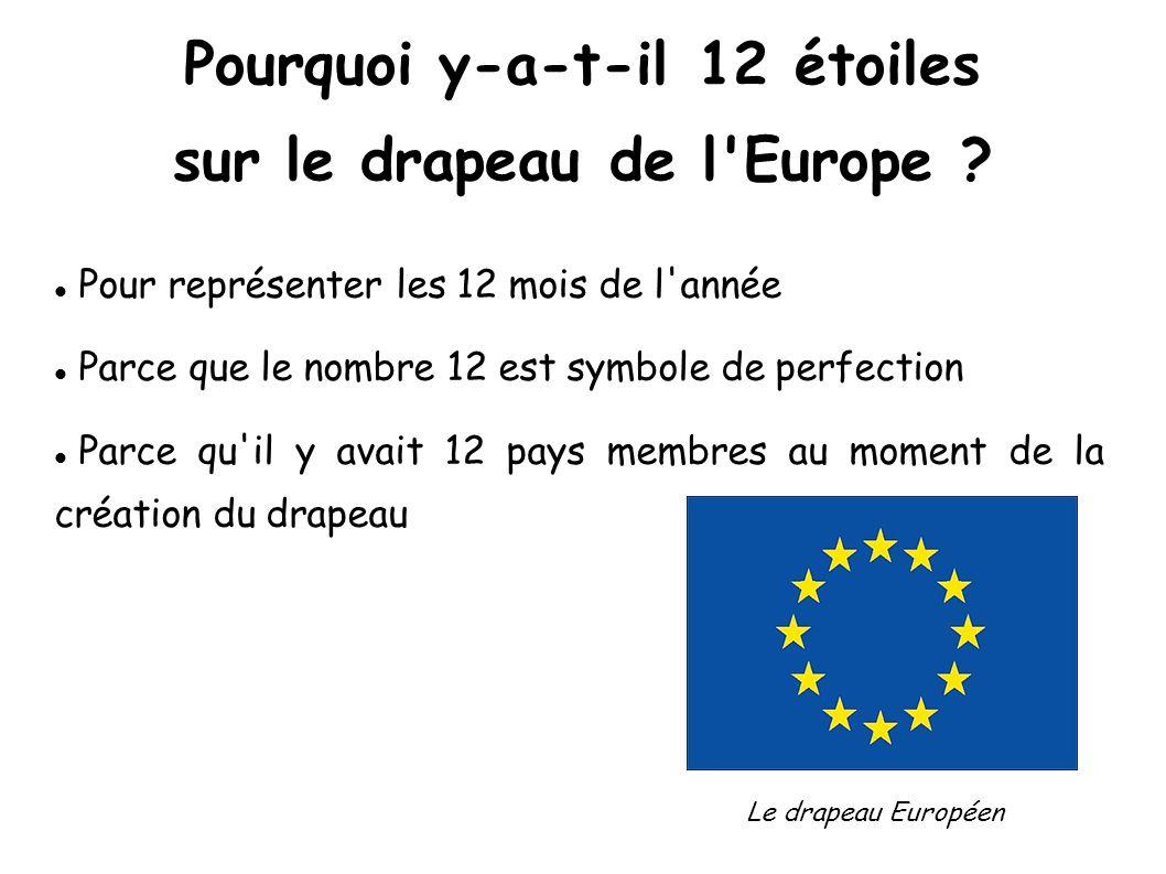 Pourquoi y-a-t-il 12 étoiles sur le drapeau de l Europe