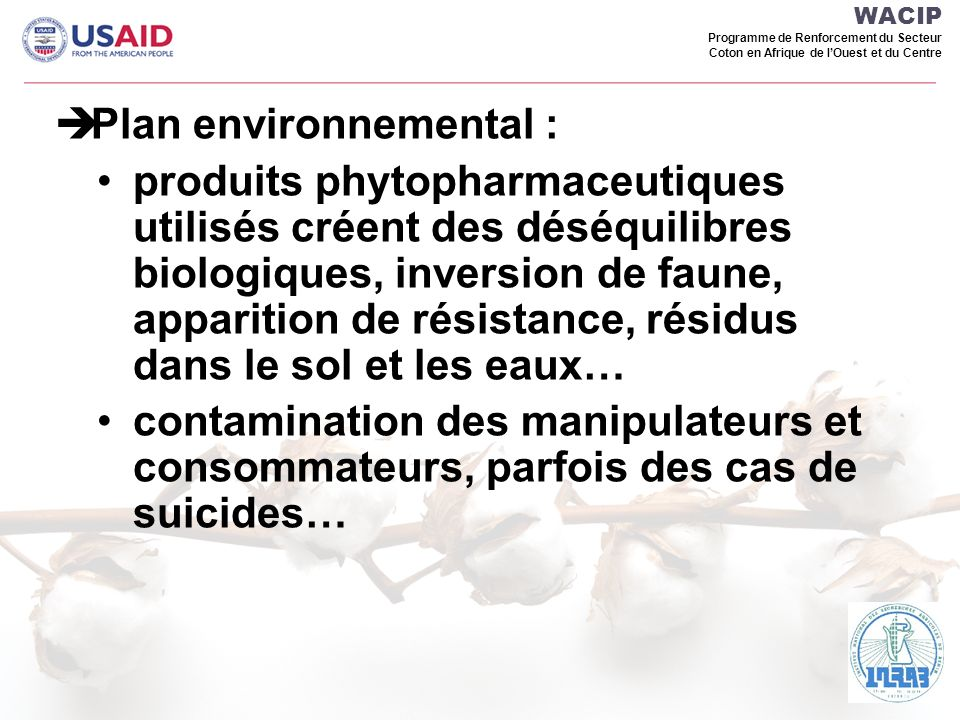 Plan environnemental :