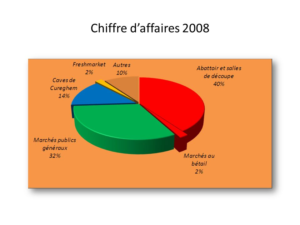Chiffre d'affaires 2008