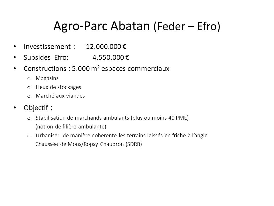 Agro-Parc Abatan (Feder – Efro)