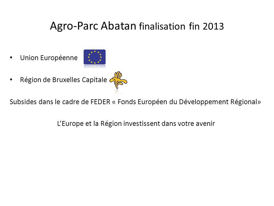 Agro-Parc Abatan finalisation fin 2013