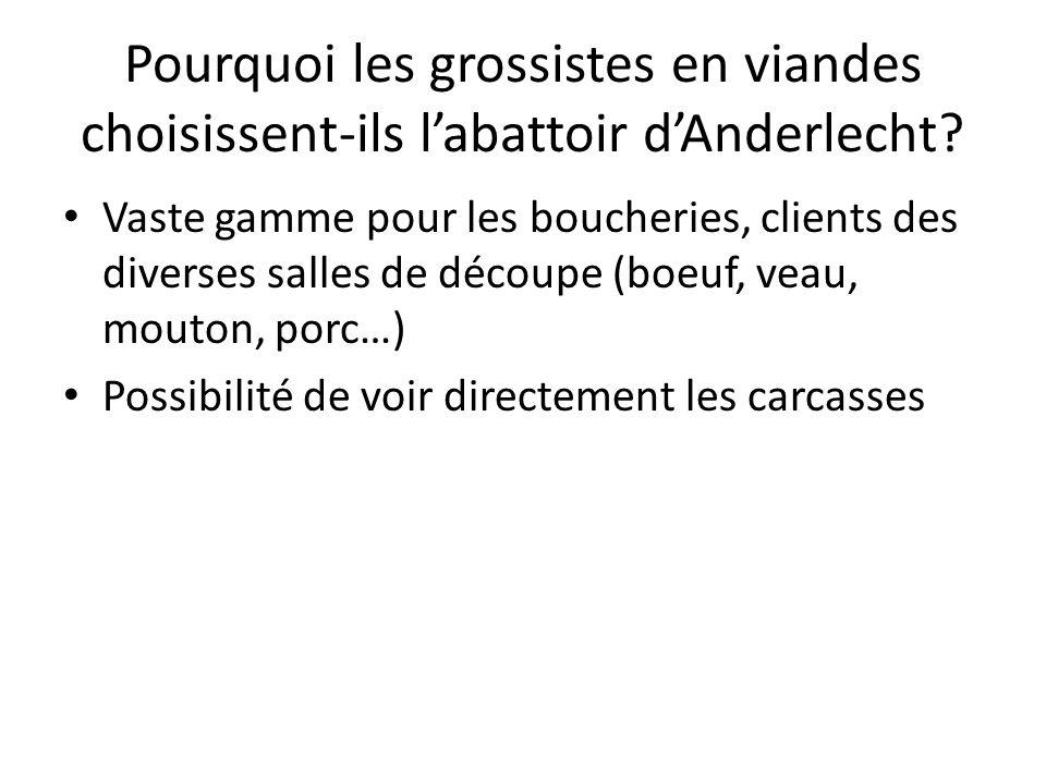 Pourquoi les grossistes en viandes choisissent-ils l'abattoir d'Anderlecht