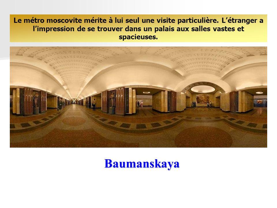 Le métro moscovite mérite à lui seul une visite particulière