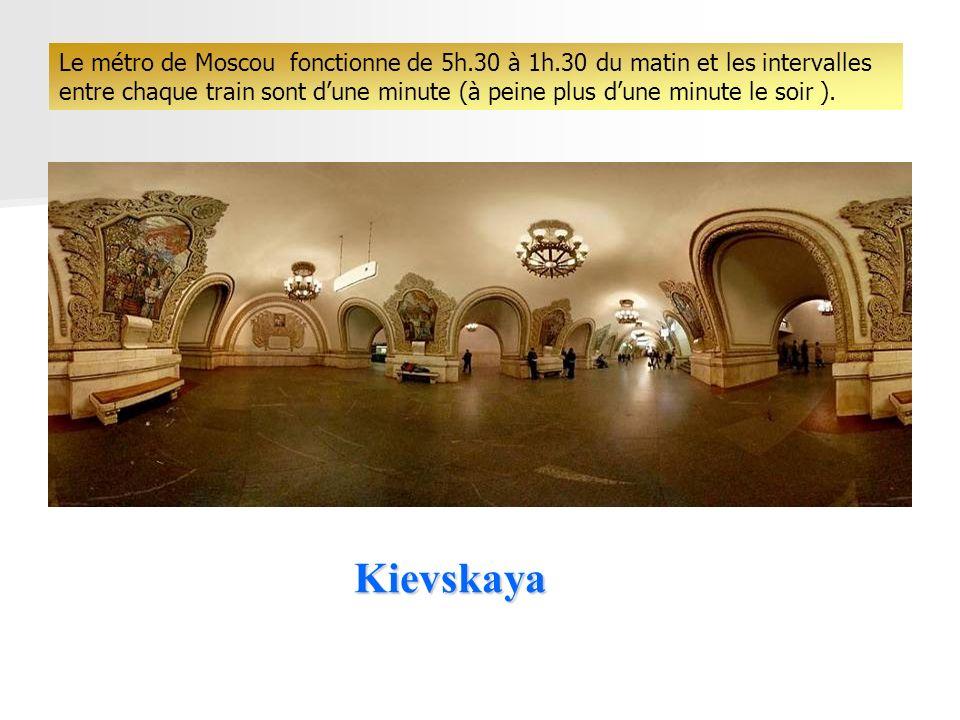 Le métro de Moscou fonctionne de 5h. 30 à 1h