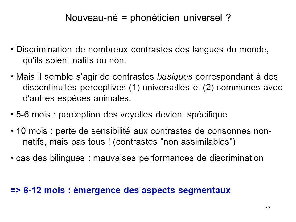 Nouveau-né = phonéticien universel
