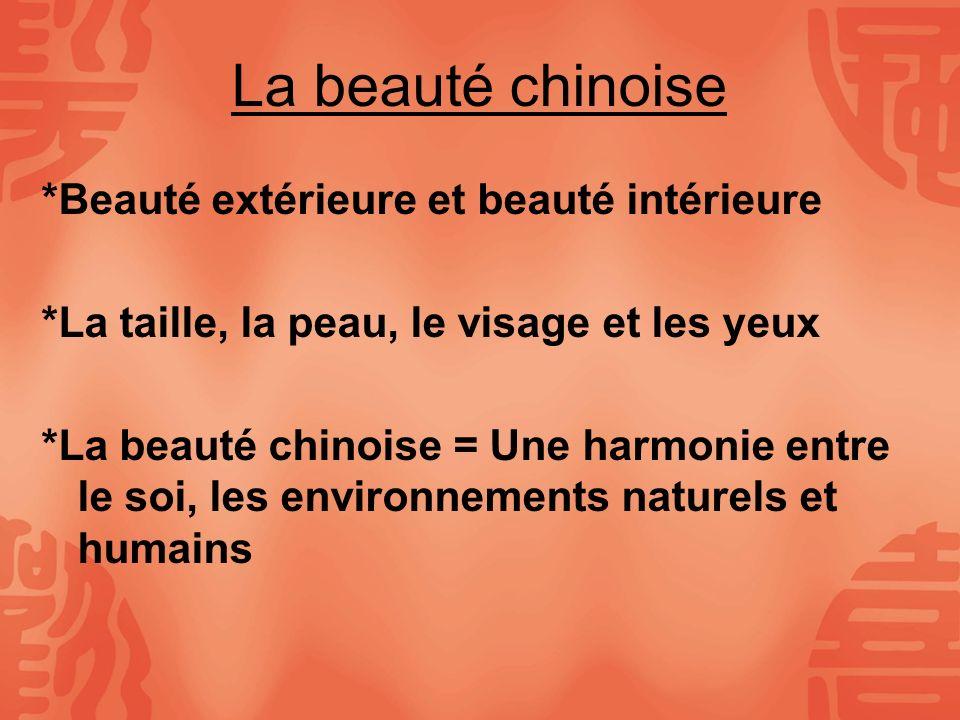 La beauté chinoise *Beauté extérieure et beauté intérieure