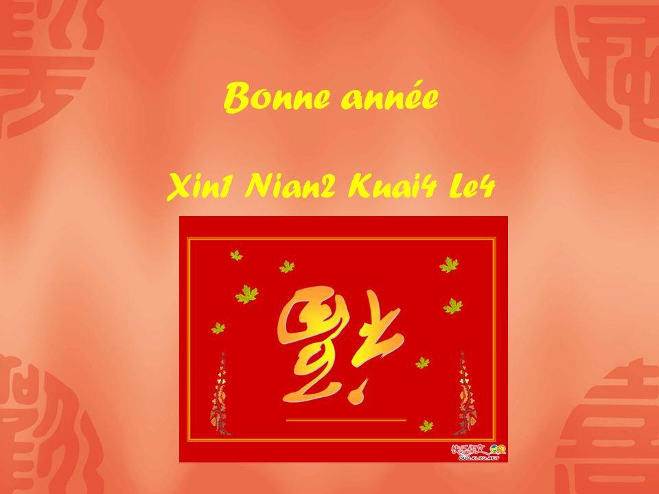 Bonne année Xin1 Nian2 Kuai4 Le4