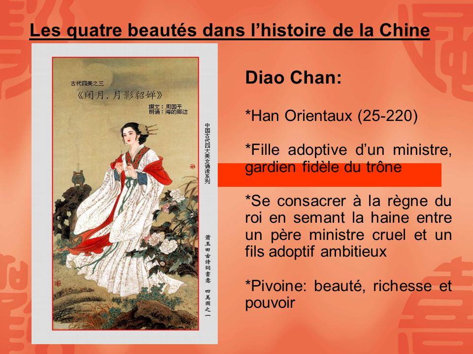 Les quatre beautés dans l'histoire de la Chine