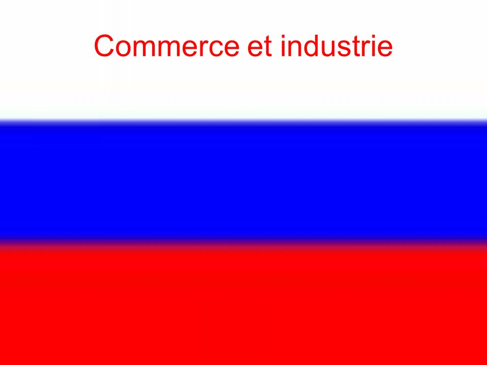 Commerce et industrie
