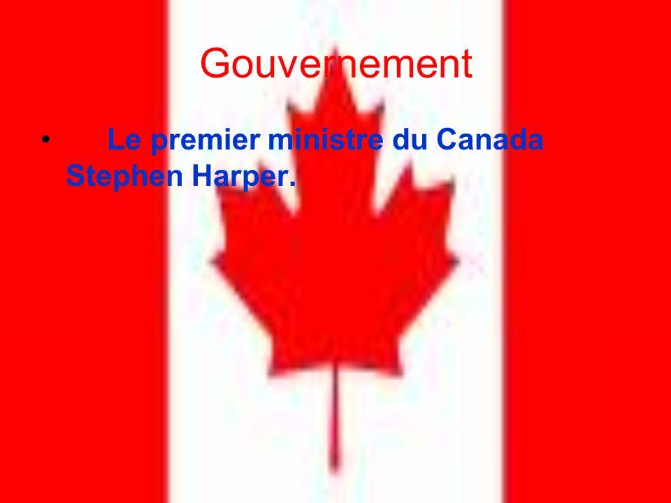 Gouvernement Le premier ministre du Canada Stephen Harper.