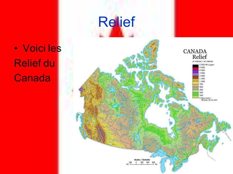 Relief Voici les Relief du Canada