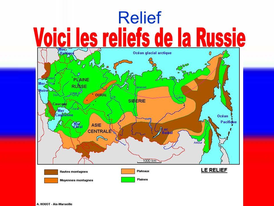 Voici les reliefs de la Russie