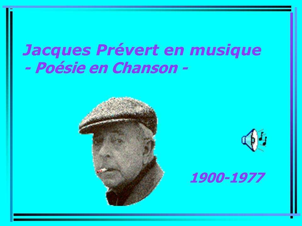 Jacques Prévert en musique - Poésie en Chanson -
