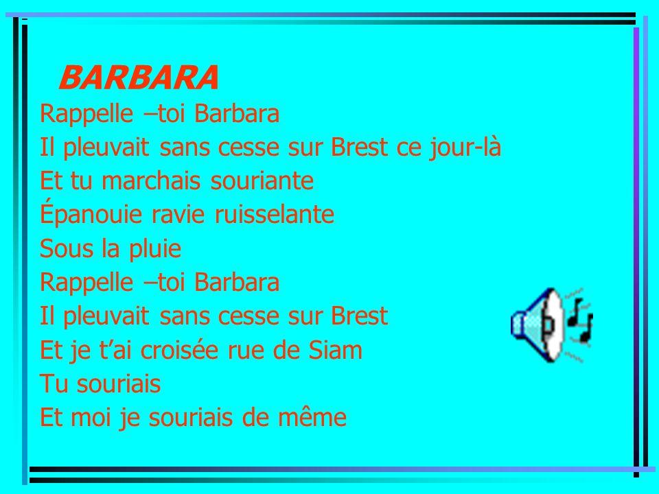 BARBARA Rappelle –toi Barbara