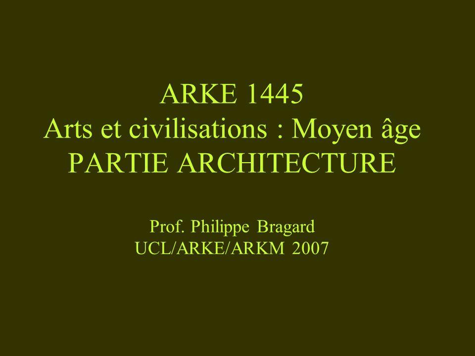 ARKE 1445 Arts et civilisations : Moyen âge PARTIE ARCHITECTURE Prof