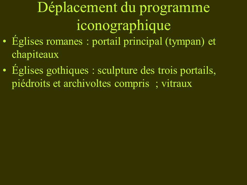 Déplacement du programme iconographique