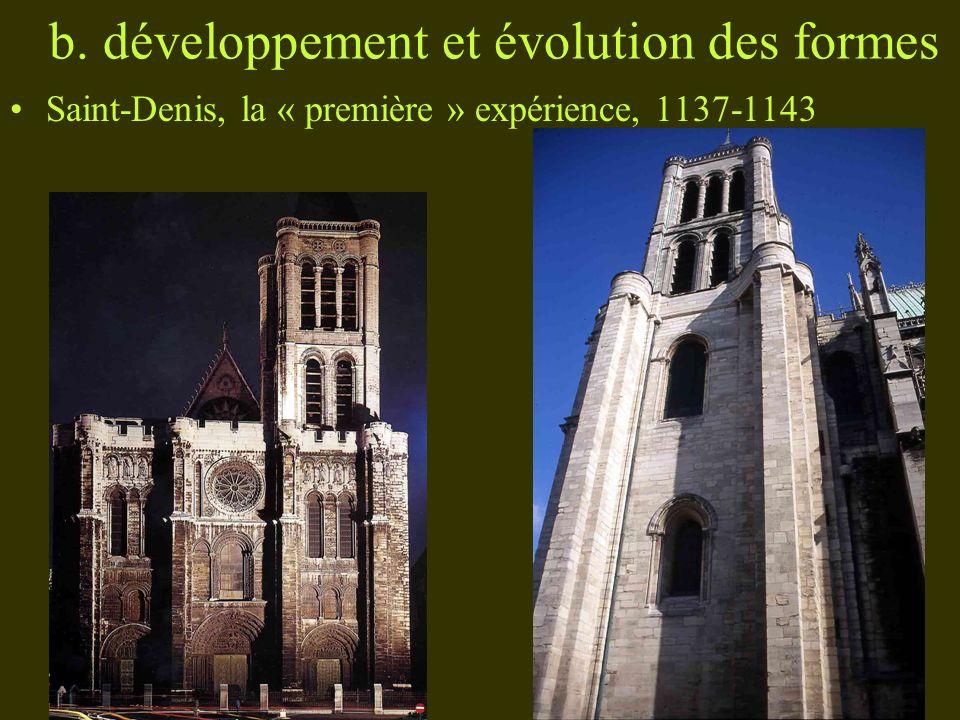 b. développement et évolution des formes