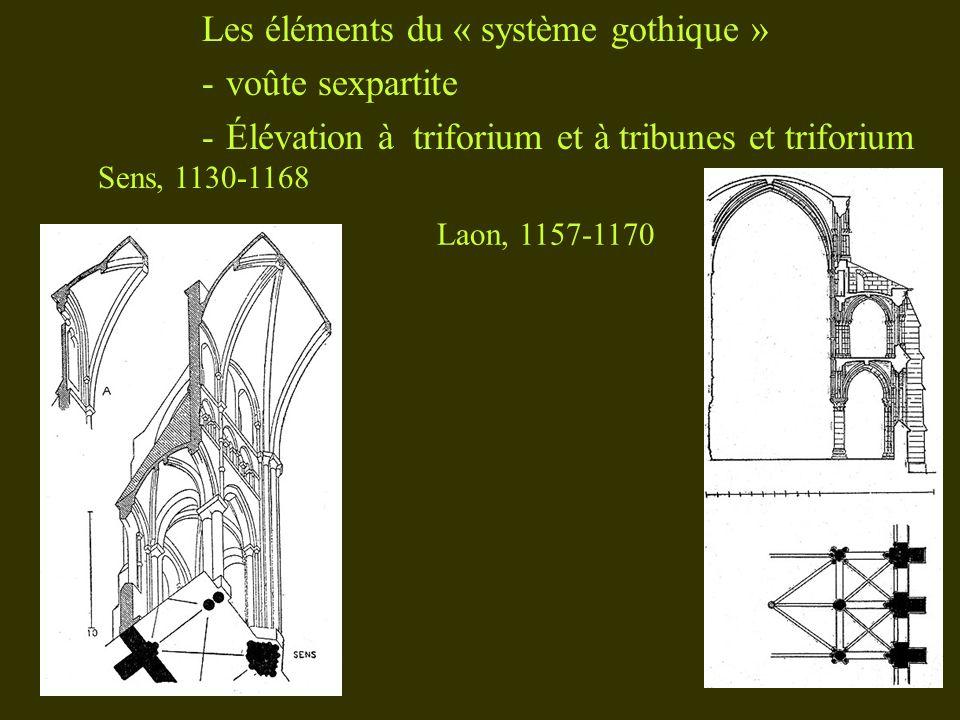 Les éléments du « système gothique » voûte sexpartite