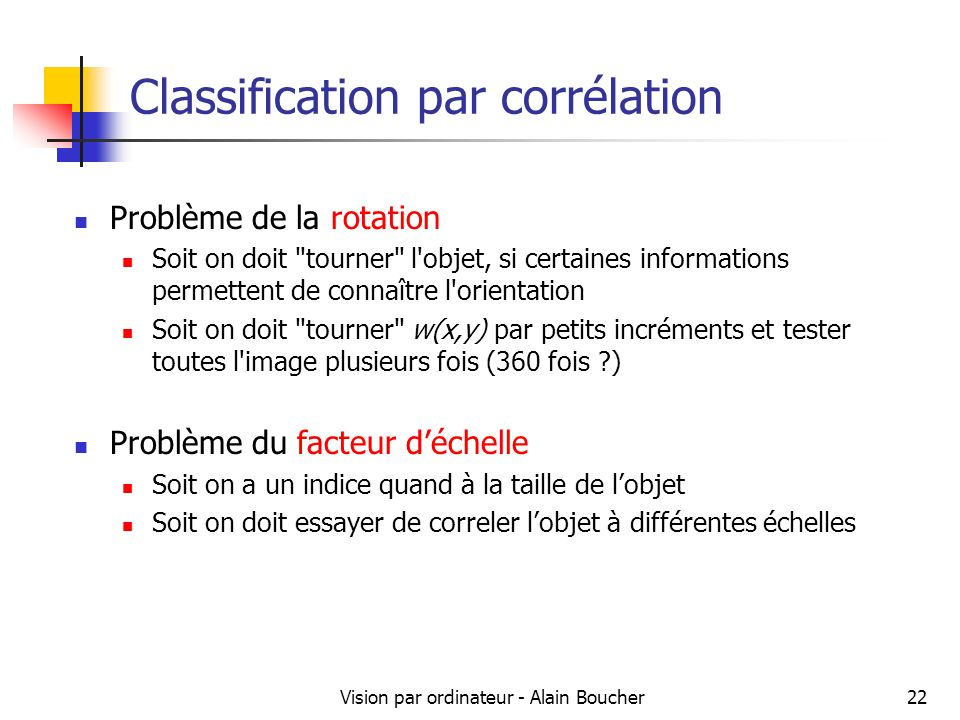 Classification par corrélation