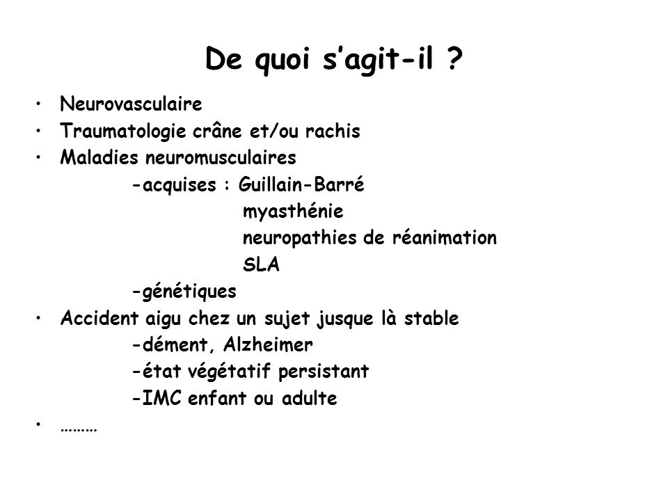De quoi s'agit-il Neurovasculaire Traumatologie crâne et/ou rachis