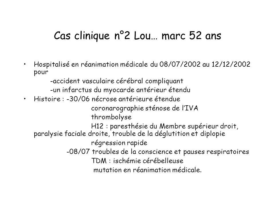 Cas clinique n°2 Lou… marc 52 ans
