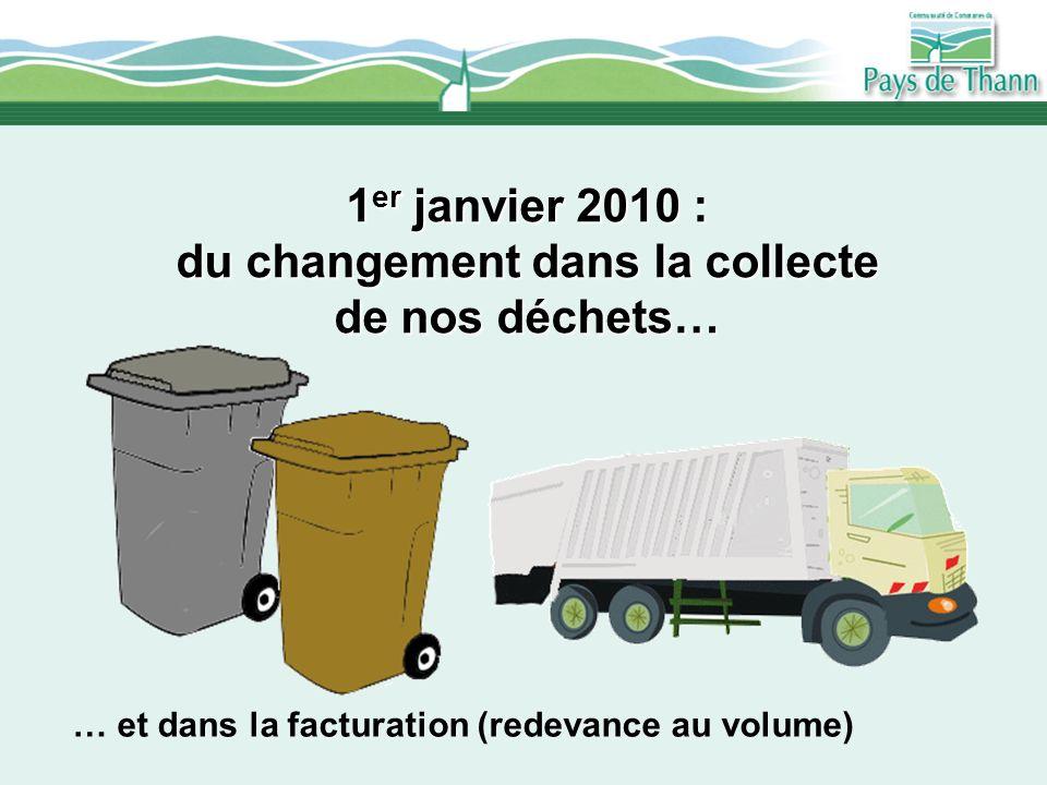 1er janvier 2010 : du changement dans la collecte de nos déchets…