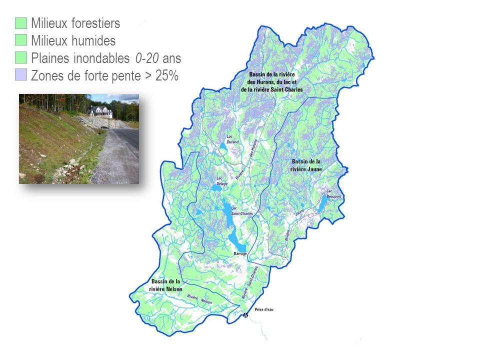Plaines inondables 0-20 ans Zones de forte pente > 25%