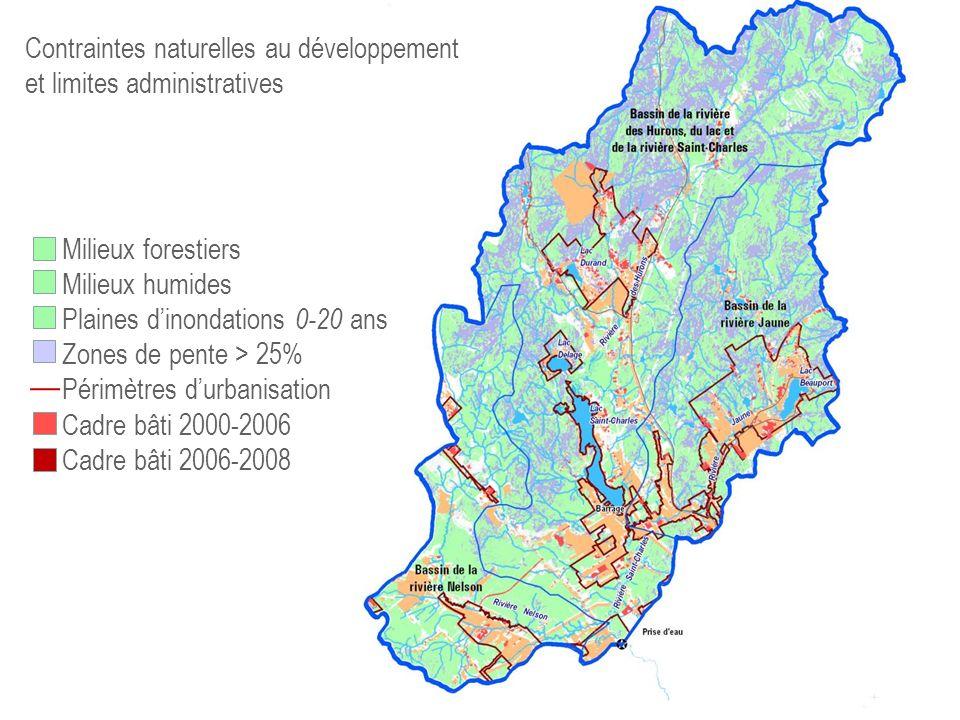 Contraintes naturelles au développement et limites administratives