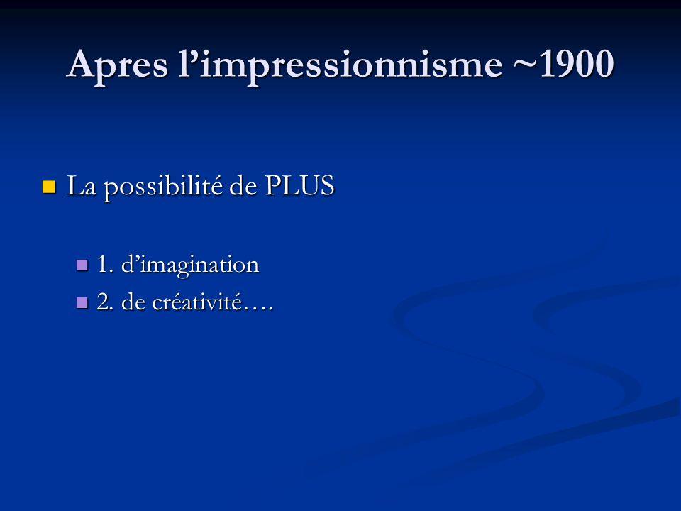 Apres l'impressionnisme ~1900