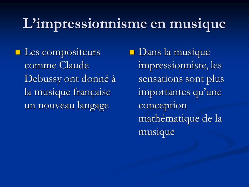 L'impressionnisme en musique