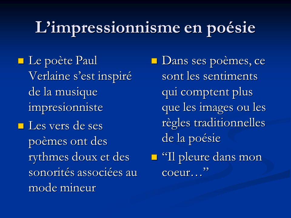 L'impressionnisme en poésie