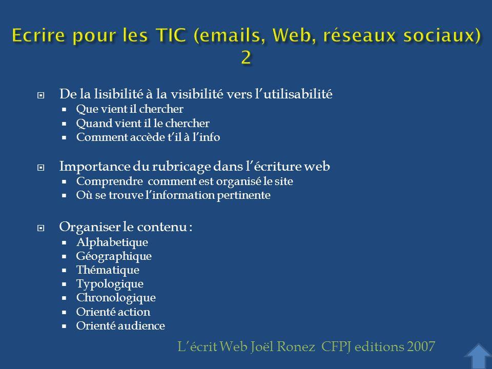 Ecrire pour les TIC (emails, Web, réseaux sociaux) 2
