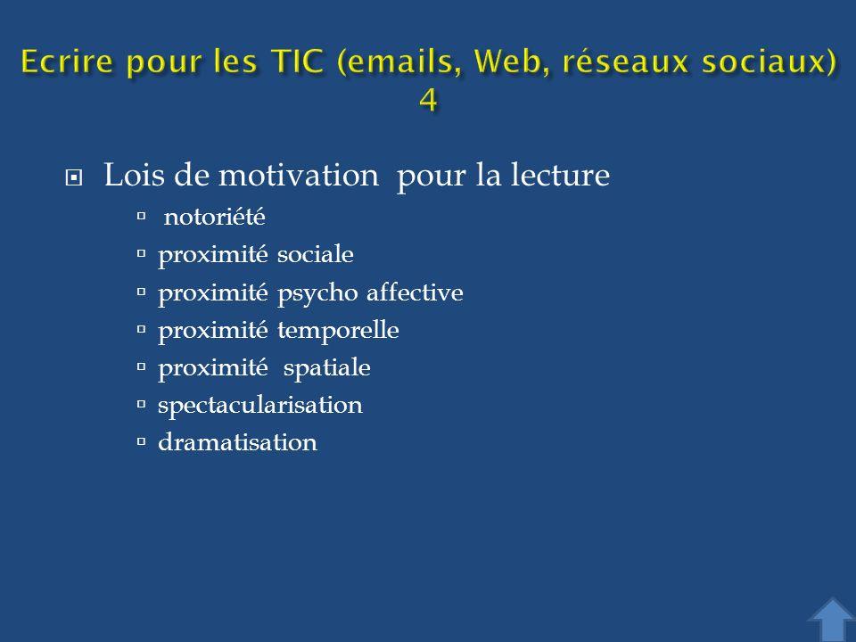 Ecrire pour les TIC (emails, Web, réseaux sociaux) 4