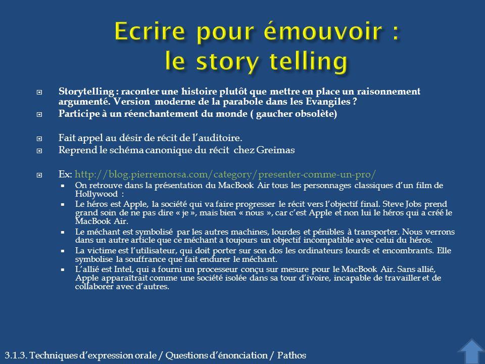 Ecrire pour émouvoir : le story telling