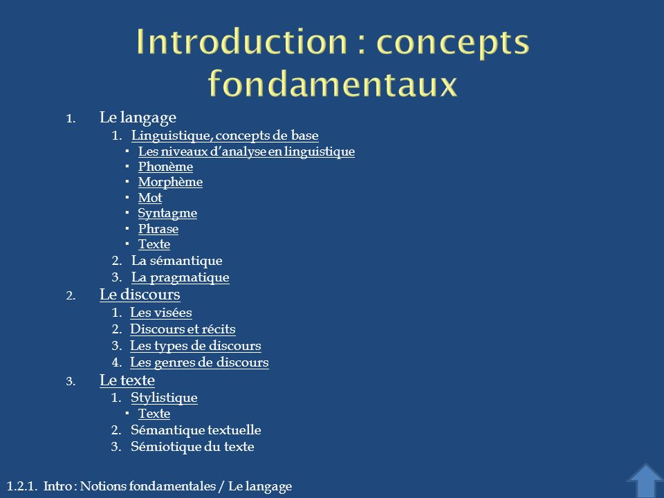 Introduction : concepts fondamentaux