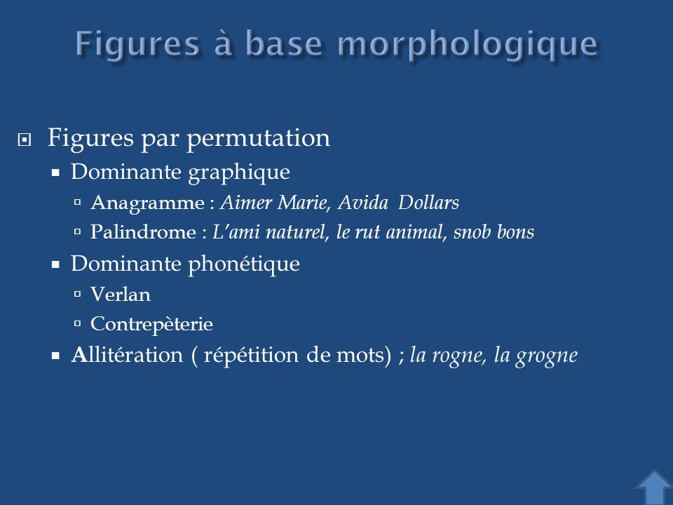 Figures à base morphologique