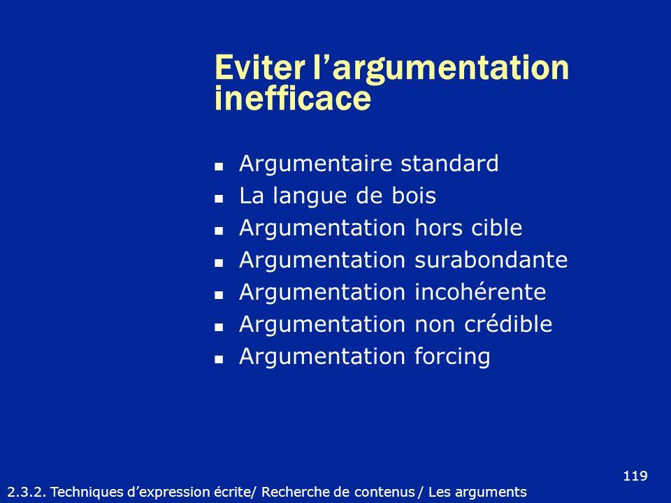Eviter l'argumentation inefficace