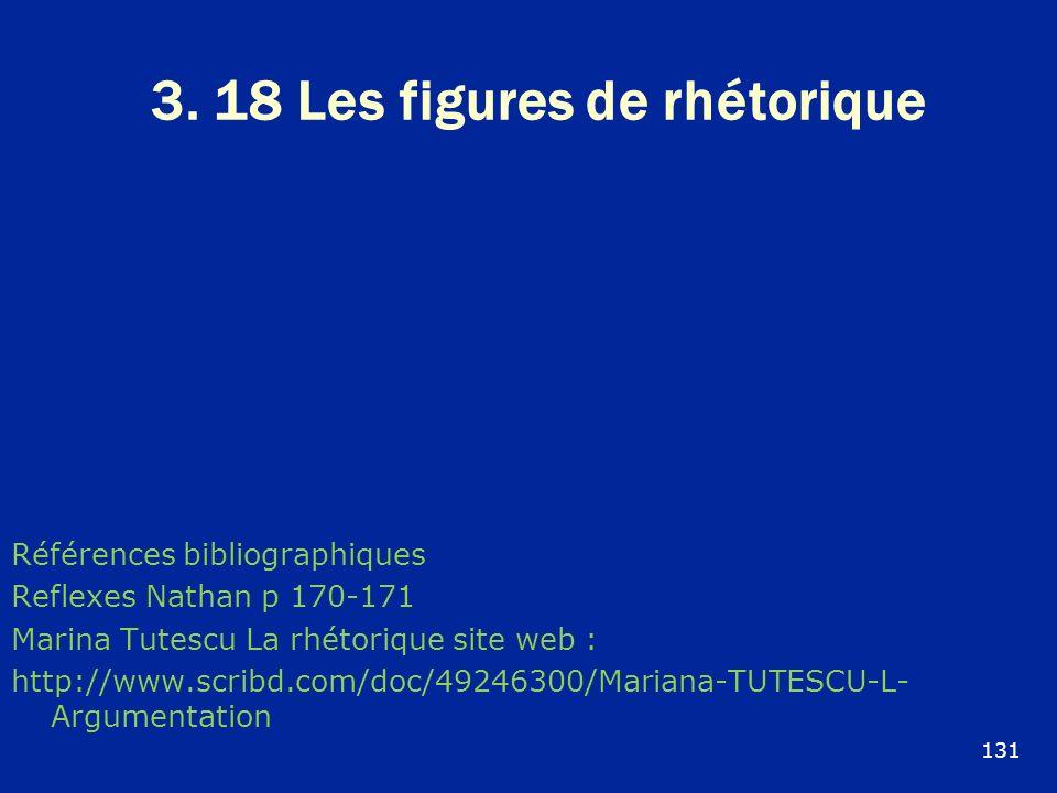 3. 18 Les figures de rhétorique