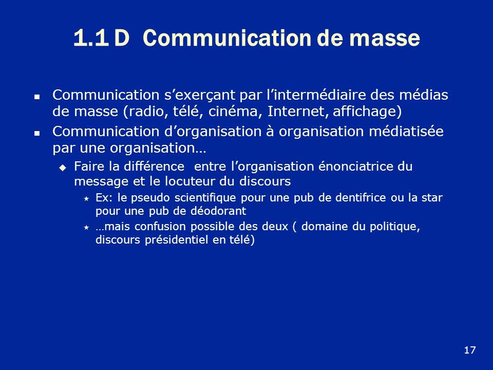 1.1 D Communication de masse