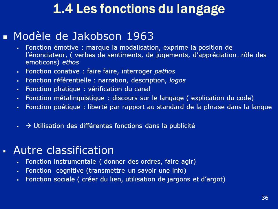 1.4 Les fonctions du langage