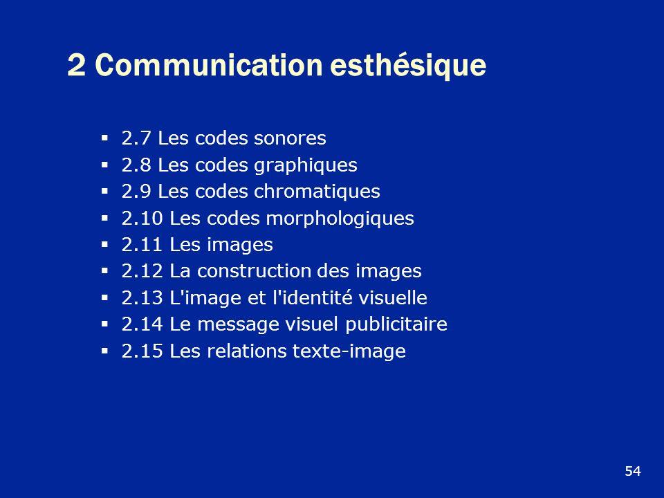 2 Communication esthésique