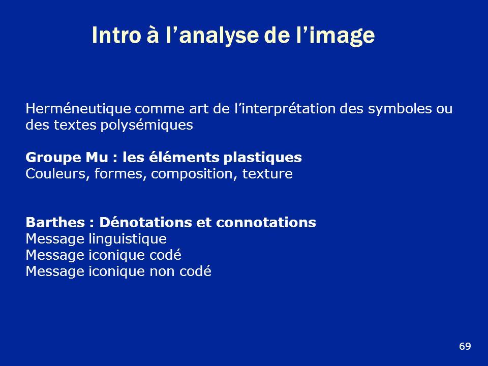 Intro à l'analyse de l'image