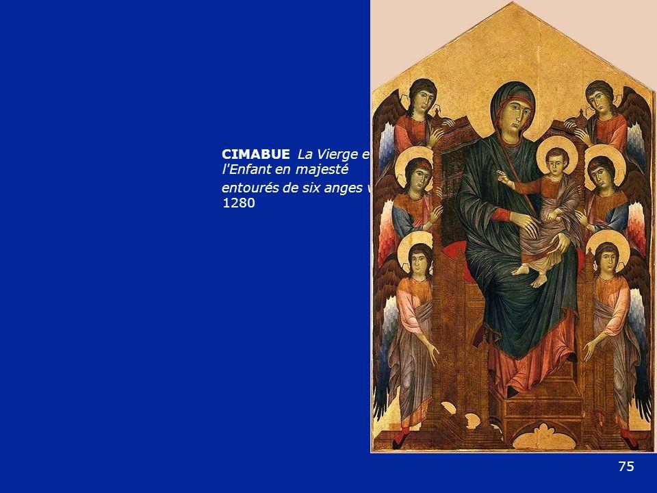 CIMABUE La Vierge et l Enfant en majesté