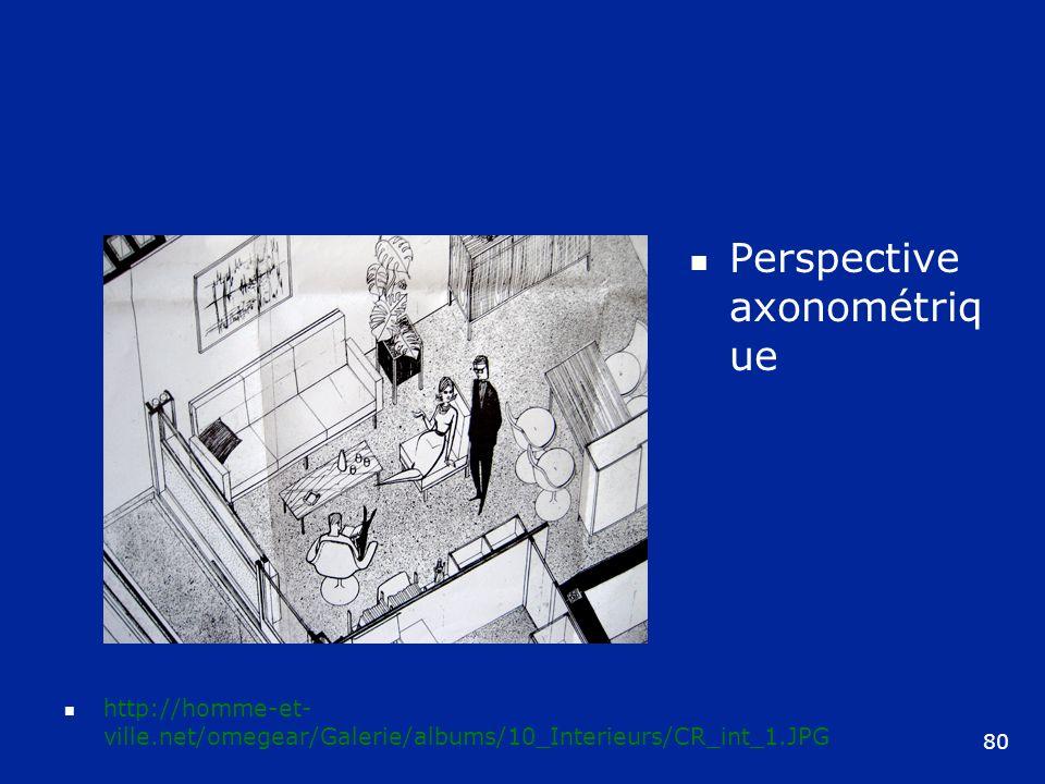 Perspective axonométrique
