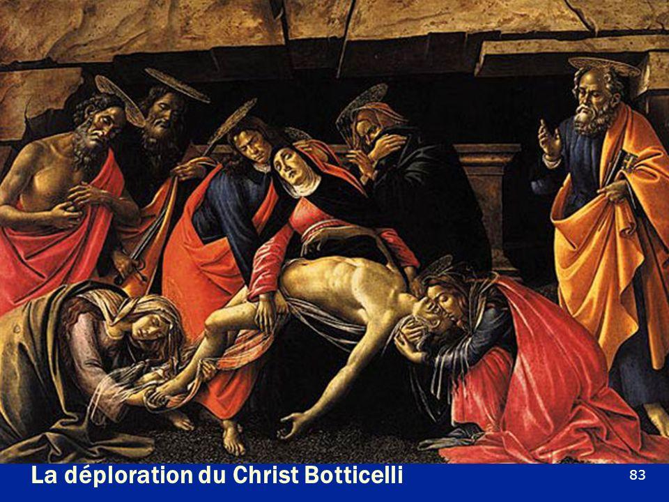 La déploration du Christ Botticelli
