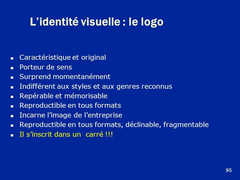 L'identité visuelle : le logo