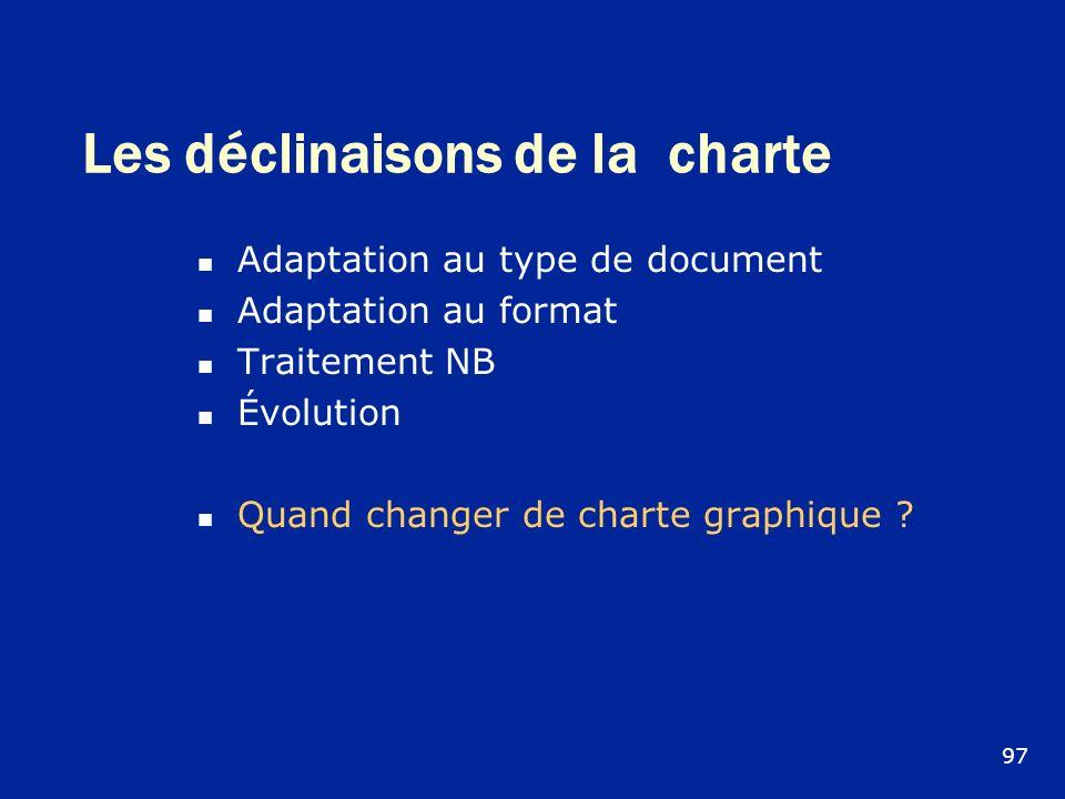 Les déclinaisons de la charte