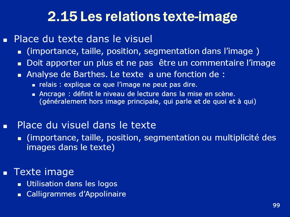 2.15 Les relations texte-image